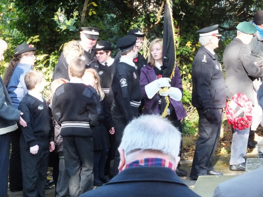 Remembrance Sunday, Sawtry. (St. Johns Ambulance in attendance.)