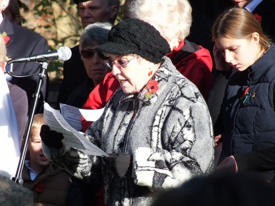 Remembrance Sunday, Sawtry. (Reading of the names.)