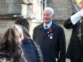 Remembrance Sunday, Sawtry. (Ken Rowell representing the British Legion.)