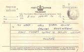 A Telegram to Bill Hall Headmaster Sawtry School.
