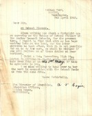 A letter of resignation from A. V. Cogin School Cleaner of Malton Yard, Sawtry.