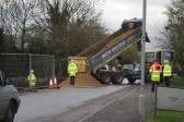 Gidding Road Developement, Sawtry. (Begining of the New Road.)