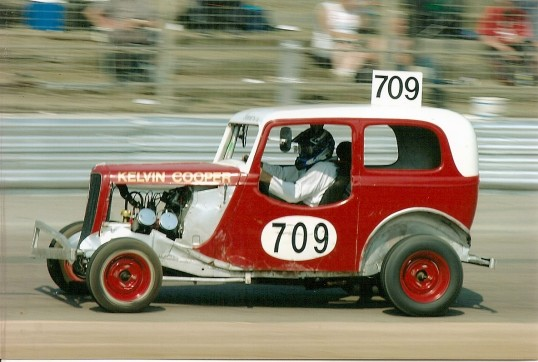 Kelvin Cooper of Sawtry raced Stock Cars in the 1960's in cars such as this one.