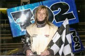 Claire Cooper of Sawtry with her 2007 Stock Car race trophy