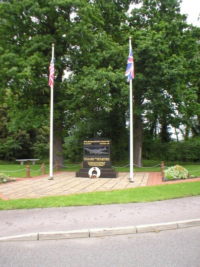 Memorial to the 457th Bombardment Group on the Old Great North Road at Conington.