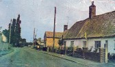 Church Street, Sawtry? A poor postcard image from about 1950?