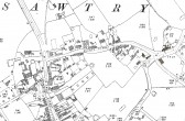 1867 map of Sawtry - note that High Street is shown as Front Street.
