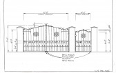 Drawing of new Cemetery gates by Colin Gunning, for St. Andrews new Cemetery Sawtry.