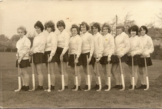 The first Sawtry College Girls hockey team.
