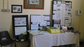 "The ""Sawtry Abbey"" display at the Sawtry History Society Open day."