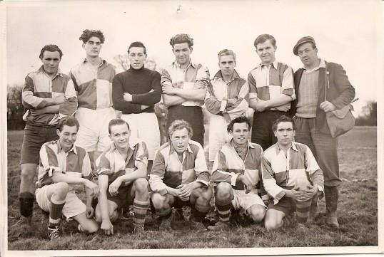 A Sawtry Football Team, name on reverse