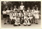 """A Sawtry Junior Football Team - """"Runners-Up"""" on the ball - but what was the competition?  Lots of names on the back of the print but who is who?"""