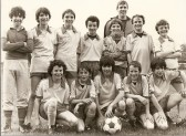 A Sawtry Junior Football team - just look at those hairstyles! Wonder who they are now? Hope someone can help to identify them!