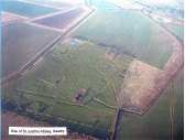 Aerial view of the site of Sawtry Abbey sited in the extreme north-east of the Parish. Click 'Text Show' Button. Sawtry Abbey