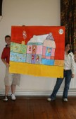 Sawtry Youth Club, CCAN art project - collage of Manor Farm by Ryan Berridge & Amber Bowen