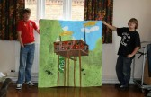 Sawtry Youth Club, CCAN art project - interpretation of Connington water tower by Kyle Walker & Tom Greening