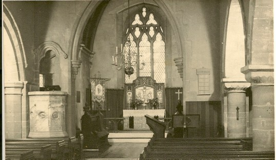 Interior of St. Giles Church, Holme.