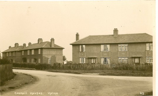 Station Road Holme, council houses.