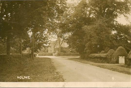 Station Road Holme looking towards , Dolesmead 1 Church Street.