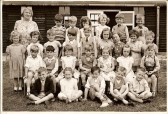 Mrs Slater's Sawtry Infant 1 Class in 1956