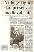 1979 newspaper articles about the Sawtry Judith archaeological site
