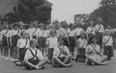 Girls of Church of England school, Clay street, Soham. For the girls' names see attached text. . Soham C 0f E school, Clay St., Soham 1939