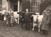 4 generations of the Leonard family outside The Hall, Sand Street, Soham. . Leonard's Butchers, Soham
