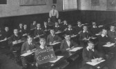 Soham Boys, Class 3, with Miss Taylor. For names see added text. Class III, Soham Boys School, 1912