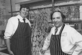 Paul Constant & Elvin Day, Constant's Butchers, 25 High St., Soham (formerly Leonards). Oct. 1985