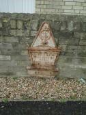 Grave marker (?) for Hannah Levet , d May 31st 1840, age 3. On outside wall of Baptist Church, Soham.