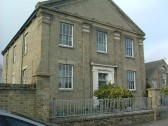 Former Congregational Church on Station Road, Soham, (built 1837) showing School Room (1880) to the right.