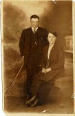 Fred and Florrie Griggs of Soham, possibly taken before their marriage in 1921?