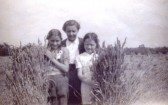 Evelyn Peacock, her mother and her cousin Joyce - evacuees from London who stayed with the Hobbs family on Qua Fen Common, Soham during the Blitz.