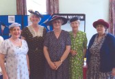 Soham Museum's Donna Martin, Barbara Warner, Pam Rind, Diana Hillman & Joy Ames in 1940's style on the Heritage & Tourism Open day.