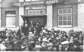 Picture taken outside Salvation Army Hall to mark their special celebration, or part of the annual Hospital Parade