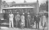 A family group probaibly from Soham, about to return home from a trip to the seaside  (Great Yarmouth possibly)in old bus.. Soham family group outing