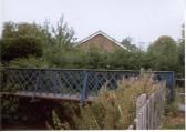 Brook Dam Bridge Soham built by Mr Hook in 1901 as viewed from the path through Frank Bridges Close