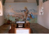 Interior of Soham North Cemetery Chapel built in 1855, saved from demolition, restored and re-opened 1996