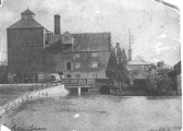 Greeting card showing Soham Mill before a large section was destroyed by Fire
