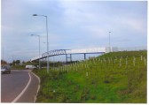 South approach to Soham with pedestian bridge over the by-pass, allowing access to Fordham.