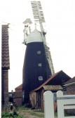 Downfields Windmill, Soham. Originally built by Fysons, two sails rather than four. Owned by Staples and Jugg circa 1900.. Downfields windmill