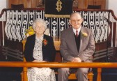 Alfred and Mary Ames, Diamond Wedding celebration at Soham Primitive Methodist chapel.