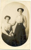 Lizzie Cater (b. East Fen Common, Soham) with her friend Connie, taken while in service in Kent.
