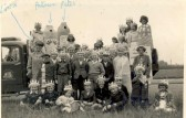 A group of children from one of the Soham Carnival floats, Whit Monday 1957.