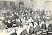 Soham Women's Institute party, held in the Lodeside hall. Includes Mrs. Hazel Palmer and her mother, Mrs. Backhouse.