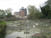 Demolition of Clark and Butcher's Lion Mill, viewed from Clay St, Soham.