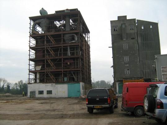 Demolition in progress - Clark and Butcher's Lion Mills, Soham.