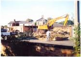 Demolition in progress - Jack Boyce, seed merchant of Fountain Lane, Soham. Photo courtesy of Dorothy Odell.