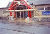 Construction of the porch at the entrance of the new Library on Clay St, Soham.