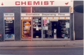 Neville's Chemist shop at 33 High St, Soham. Now Lloyds chemist, previously Walkers Stores.